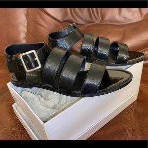Calvin Klein Patent Black Sandals Size 9.5